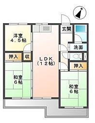 愛知県豊田市栄生町1丁目の賃貸マンションの間取り