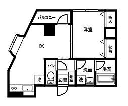ヨネビルEBARA[202号室]の間取り