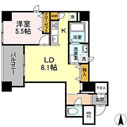 東京メトロ丸ノ内線 淡路町駅 徒歩3分の賃貸マンション 5階1LDKの間取り
