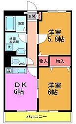 T・K CHROMA(クロマ)[3階]の間取り