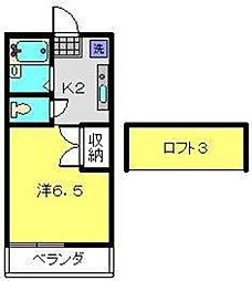 グレースハイツII[1階]の間取り