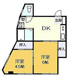 第1廣田マンション[301号室]の間取り