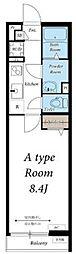 JR中央線 西八王子駅 徒歩15分の賃貸アパート 3階1Kの間取り