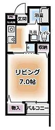 小川ハイツ 1階1Kの間取り