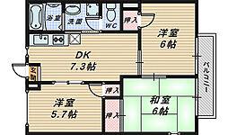 西洋館[1階]の間取り
