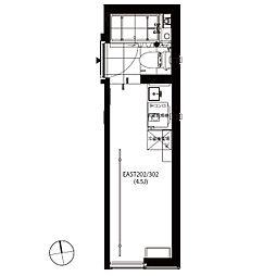 SN44[3階]の間取り