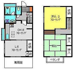 [テラスハウス] 神奈川県横浜市南区中里3丁目 の賃貸【/】の間取り