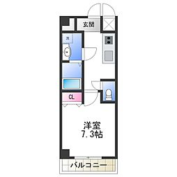 TOYOTOMI STAY Premium 天王寺公園南III 7階1Kの間取り