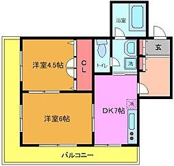 Mビル[4階]の間取り