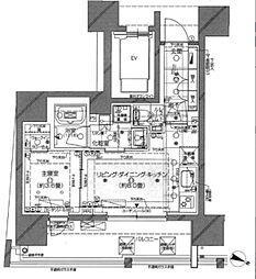 ピアース渋谷WEST 5階1LDKの間取り