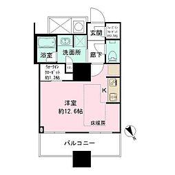 ザ・パークハウス西新宿タワー60 32階ワンルームの間取り