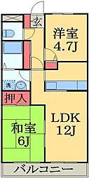 千葉県千葉市緑区おゆみ野中央9丁目の賃貸マンションの間取り