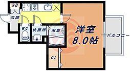 Osaka Metro御堂筋線 天王寺駅 徒歩8分の賃貸マンション 12階1Kの間取り