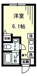 Refine 戸塚町 1階ワンルームの間取り