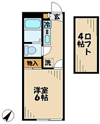 京王相模原線 京王多摩センター駅 徒歩10分の賃貸マンション 3階1Kの間取り