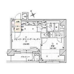 サンスタレ西浅草[10階]の間取り