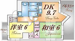 シャトーレスポワール[9階]の間取り