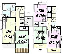 [一戸建] 東京都八王子市横川町 の賃貸【/】の間取り