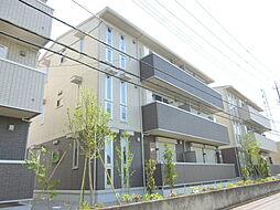 茨城県つくば市東2丁目の賃貸アパートの外観