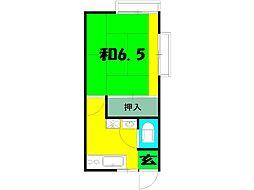 水沢荘[7号室]の間取り