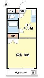 神奈川県川崎市宮前区五所塚1丁目の賃貸マンションの間取り