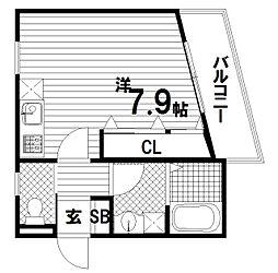 ワコーレヴィアーノSUMA須磨寺[2階]の間取り