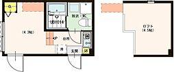 (仮称)梅田5丁目2Bコーポ 2階ワンルームの間取り