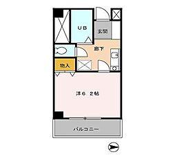 G・MウエストハイツA・B[2階]の間取り
