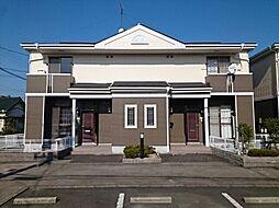 愛知県豊川市野口町道下の賃貸アパートの外観