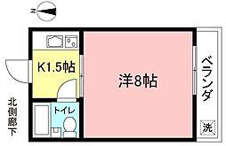 第3シルク荘[2階]の間取り