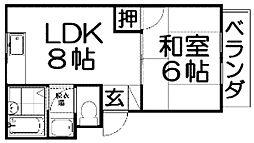 Mプラザ津田駅前5番館[2階]の間取り