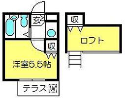 アートパレス新河岸No.5[102号室]の間取り