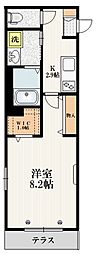 JR埼京線 赤羽駅 徒歩15分の賃貸マンション 1階1Kの間取り