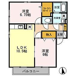 神奈川県綾瀬市深谷上6丁目の賃貸アパートの間取り