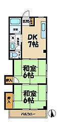 岩隈ハイツ1号[302号室]の間取り