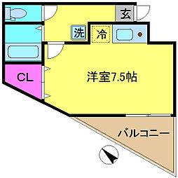 埼玉県さいたま市大宮区浅間町1丁目の賃貸マンションの間取り