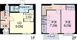 愛知県西春日井郡豊山町大字豊場の賃貸アパートの間取り
