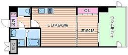 阪急千里線 北千里駅 徒歩13分の賃貸マンション 1階1LDKの間取り