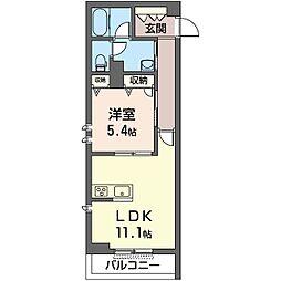 仮)中原区木月1丁目シャーメゾン 1階1LDKの間取り
