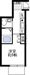 オーガスタコート横浜反町[104号室]の間取り