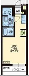 WOOD4東川口 1階ワンルームの間取り