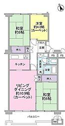 東急ドエル梶ヶ谷プラザビル[6階]の間取り