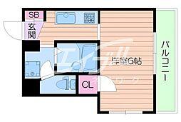 デザイナーズ8マンション[4階]の間取り