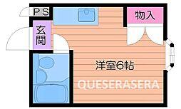 大阪府箕面市石丸3丁目の賃貸アパートの間取り