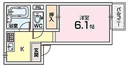 セフティ宮之阪[1階]の間取り