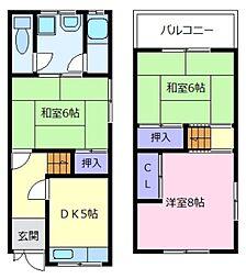 [テラスハウス] 大阪府松原市上田8丁目 の賃貸【/】の間取り