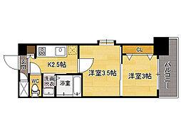ORIENTBLD No.111 TRADING TOWER[4階]の間取り