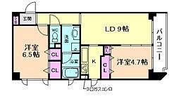 ファミリアーレ[4階]の間取り