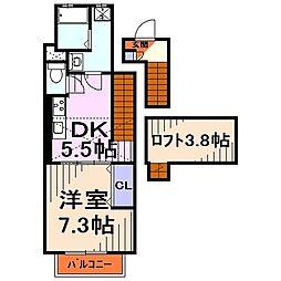 埼玉県戸田市笹目南町の賃貸アパートの間取り