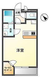 愛知県豊川市八幡町上ノ蔵の賃貸アパートの間取り